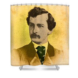 John Wilkes Booth, American Assassin Shower Curtain by Photo Researchers
