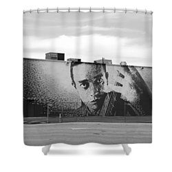 Johnny Cash Shower Curtain by Rob Hans