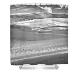 Land Meets Sky Shower Curtain by Colleen Coccia