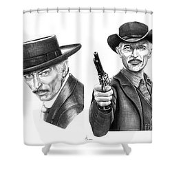 Lee Van Cleef Shower Curtain by Murphy Elliott