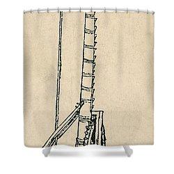 Leonardo Da Vincis Lifting Gear Shower Curtain by Science Source