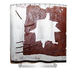 Love - Tile Shower Curtain by Gloria Ssali
