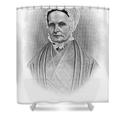 Lucretia Coffin Mott Shower Curtain by Granger