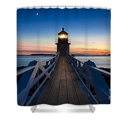 Marshall Point Light Shower Curtain by Brian Jannsen