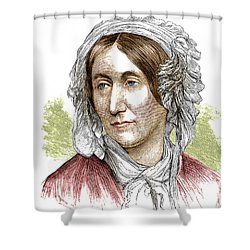 Mary Somerville, Scottish Polymath Shower Curtain by Science Source
