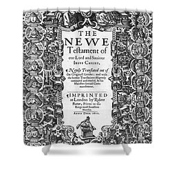 New Testament, King James Bible Shower Curtain by Photo Researchers