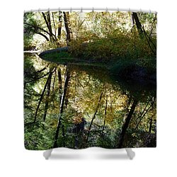 Shower Curtain featuring the photograph Oak Creek Reflection by Tam Ryan