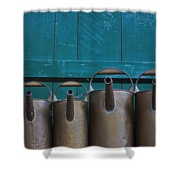 Old Watering Cans Shower Curtain by Joana Kruse