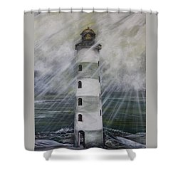 Point Lookout Lighthouse Shower Curtain