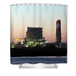 Power Station Shower Curtain by Henrik Lehnerer
