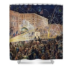 Presidential Campaign: 1876 Shower Curtain by Granger