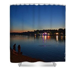 Riverview Shower Curtain by Sue Stefanowicz