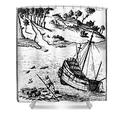 Robinson Crusoe Shower Curtain by Granger
