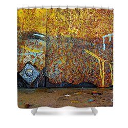 Rust Colors Shower Curtain by Carlos Caetano