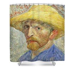Self Portrait Shower Curtain by Vincent van Gogh