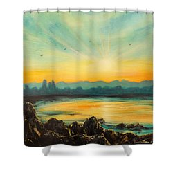 Serenity Shower Curtain by Gina De Gorna