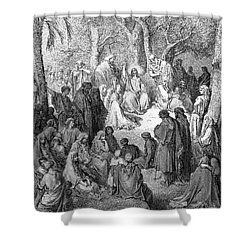 Sermon On The Mount Shower Curtain by Granger