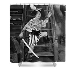 Silent Film Still: Pirates Shower Curtain by Granger