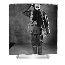 Silent Film Still: Uniforms Shower Curtain by Granger
