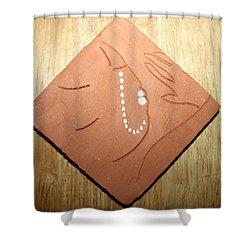 Sleep - Tile Shower Curtain by Gloria Ssali