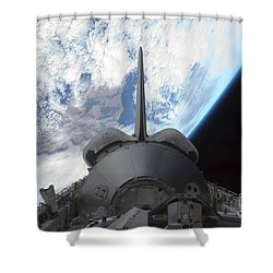 Space Shuttle Endeavours Payload Bay Shower Curtain by Stocktrek Images