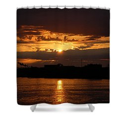 Sunrise Shower Curtain by Randy J Heath