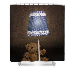 Teddy Bear Shower Curtain by Joana Kruse