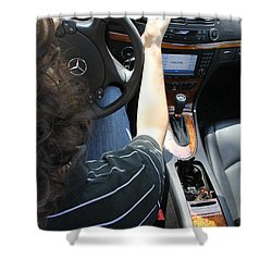 Texting And Driving Shower Curtain by Photo Researchers, Inc.