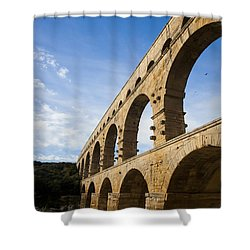 The Famous Pont Du Gare In France Shower Curtain by Taylor S. Kennedy