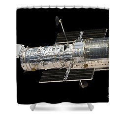 The Hubble Space Telescope Shower Curtain by Stocktrek Images
