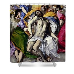 The Trinity Shower Curtain by El Greco