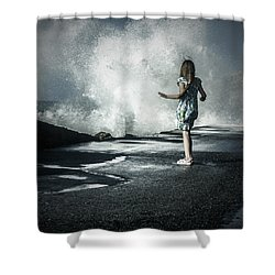 The Wave Shower Curtain by Joana Kruse