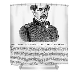 Thomas Francis Meagher Shower Curtain by Granger