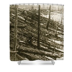 Tunguska Event, 1908 Shower Curtain by Science Source