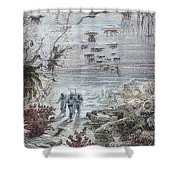 Verne: 20,000 Leagues, 1870 Shower Curtain by Granger