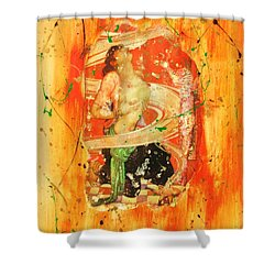 Shower Curtain featuring the painting Vices And Virtues by Roberto Prusso