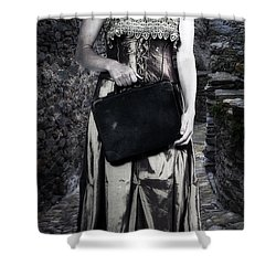 Woman In Alley Shower Curtain by Joana Kruse
