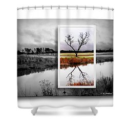 X Marks The Spot Shower Curtain by Brian Wallace
