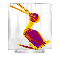 X-ray Of A Wooden Duck Toy Shower Curtain by Ted Kinsman
