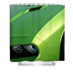 2011 Dodge Challenger Srt8 - Green With Envy Shower Curtain by Gordon Dean II