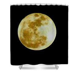 Shower Curtain featuring the photograph 2011 Full Moon by Maria Urso
