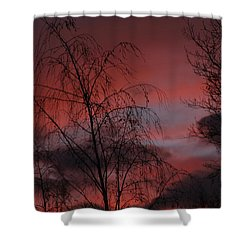 Shower Curtain featuring the photograph 2011 Sunset 1 by Paul SEQUENCE Ferguson             sequence dot net