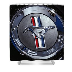 2012 Ford Mustang Trunk Emblem Shower Curtain