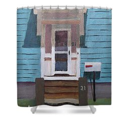 21 Wonson St Shower Curtain by Claire Gagnon