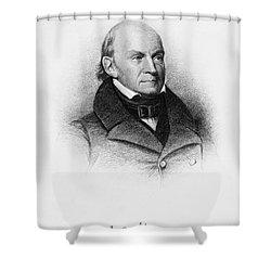 John Quincy Adams Shower Curtain by Granger