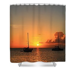 Sunset Shower Curtain by Catie Canetti