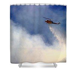Barnett Fire Shower Curtain by Henrik Lehnerer