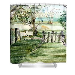 23rd Psalm Shower Curtain by Mindy Newman