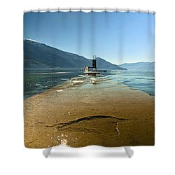 Lake Maggiore Shower Curtain by Joana Kruse