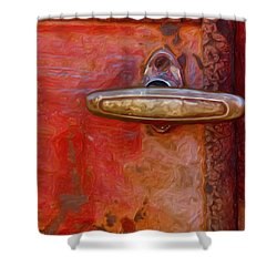 29 International Truck Handle Shower Curtain by Jack Zulli